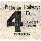 (I.B) Australia - Victoria Railways : Parcels 4d (Preston)