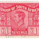 (I.B) South Africa Revenue : Duty Stamp £1 (1948)