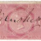 (I.B) QV Revenue : Inland Revenue 6d Reddish Lilac (SG F11)