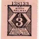 (I.B) Barry Railway : Newspaper Parcel 3d