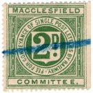 (I.B) Macclesfield Committee Railway : Letter Stamp 2d