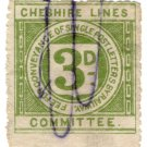 (I.B) Cheshire Lines Committee Railway : Letter Stamp 3d