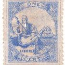 (I.B) Liberia Postal : Early Definitive 1c