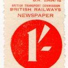 (I.B) British Railways Board : Newspaper Parcel 1/-