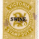 (I.B) Australia - Victoria Revenue : Swine Duty 2/-