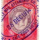(I.B) South Africa Revenue : Duty Stamp 6d (Mail Steamship)