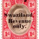 (I.B) Swaziland Revenue : Duty 1d (1904)