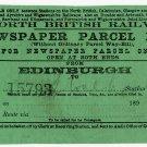 (I.B) North British Railway : Newspaper Parcel Way-Bill 1d (Edinburgh)