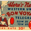 "(I.B) USA Telegraphs : Western Union Label ""Here's News"""