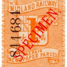 (I.B) Midland Railway : Newspaper Parcel 1d