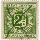 (I.B) Great Central Railway : Letter Stamp 2d