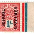 (I.B) George V Revenue : Health & Pensions Insurance 1/- (school specimen)