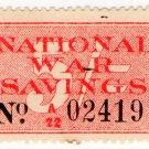 (I.B) Cinderella Collection : National War Savings 5/- (1916)