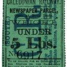 (I.B) Caledonian Railway (South) : Newspaper Parcel 5lbs