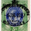 (I.B) South-West Africa Revenue : Duty Stamp 3/-