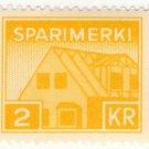(I.B) Iceland Revenue : Savings Stamp 2Kr (Sparimerki)