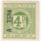 (I.B) Southern & LMS Railway (Somerset & Dorset) : Letter 4d