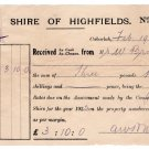 (I.B) Australia - Queensland Revenue : Adhesive Duty 1d (Highfields 1926)