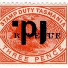(I.B) Australia - Tasmania Revenue : Stamp Duty 1d on 2d OP (inverted)