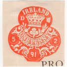 (I.B) QV Revenue : Ireland Impressed Duty 1d