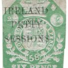 (I.B) QV Revenue : Ireland Petty Sessions 6d (1858)