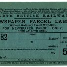 (I.B) North British Railway : Newspaper Parcel Way-Bill 5d