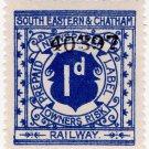 (I.B) South Eastern & Chatham Railway : Newspaper Parcel 1d