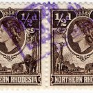 (I.B) Northern Rhodesia Revenue : Duty Stamp 1d (postal pair)
