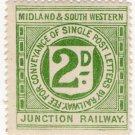 (I.B) Midland & South Western Junction Railway : Letter Stamp 2d