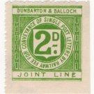(I.B) Dumbarton & Balloch Joint Line Railway : Letter Stamp 2d
