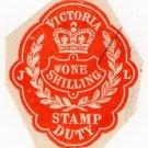 (I.B) Australia - Victoria Revenue : Impressed Stamp Duty 1/-