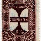 (I.B) Iceland Revenue : Duty Stamp 10Kr