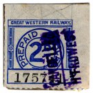 (I.B) Great Western Railway : Parcel Stamp 2d (Haverfordwest)