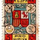 (I.B) Spain Cinderella : Civil War Charity Stamp 5c (Huelva)
