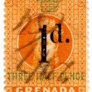 (I.B) Grenada Revenue : Duty Stamp 1d on 1½d OP
