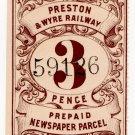 (I.B) Preston & Wyre Railway : Newspapers 3d