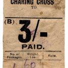 (I.B) South Eastern & Chatham Railway : Prepaid Parcel 3/- (Charing Cross)