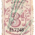 (I.B) London & South Western Railway : Newspapers 3d