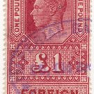 (I.B) George VI Revenue : Foreign Bill £1