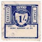 (I.B) Australia - Tasmania Railways : Parcel 1/-