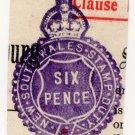 (I.B) Australia - NSW Revenue : Impressed Stamp Duty 6d