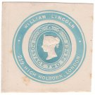 (I.B) QV Postal : Newspaper Wrapper - William Lincoln 2d (Advertising Ring)