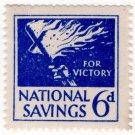 (I.B) National Savings : Flaming Cross 6d (1941)