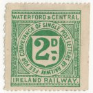 (I.B) Waterford & Central Ireland Railway : Letter Stamp 2d