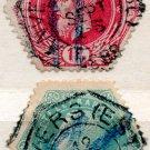 (I.B) Belgium Telegraphs : 1Fr & 25c