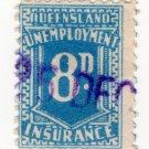 (I.B) Australia - Queensland Revenue : Unemployment Insurance 8d (1927)