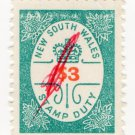 (I.B) Australia - NSW Revenue : Stamp Duty $3