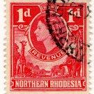 (I.B) Northern Rhodesia Revenue : Duty Stamp 1d (postal)