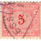 (I.B) Germany Railway : Württemburg Parcels 5pf