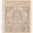 (I.B) Luxembourg Telegraphs : 5c Grey